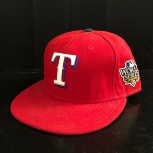 New Era MLB Texas Rangers Fitted Hat 7 5/8